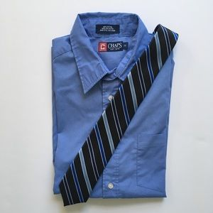 Chaps boys blue striped tie
